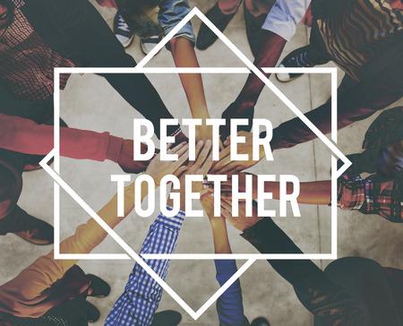 Meglio insieme l'unità della comunità Teamwork Concept Archivio Fotografico
