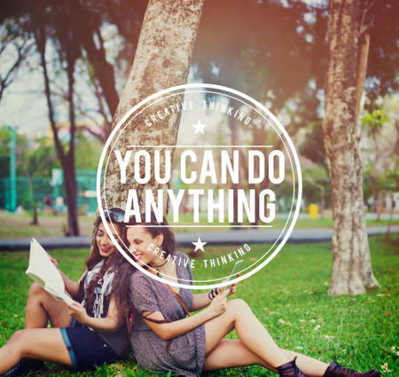 anything: You Can Do Anything Positive Motivation concpet Stock Photo