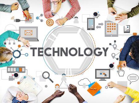 technology: Technology Future Digital Media Innovation Concept