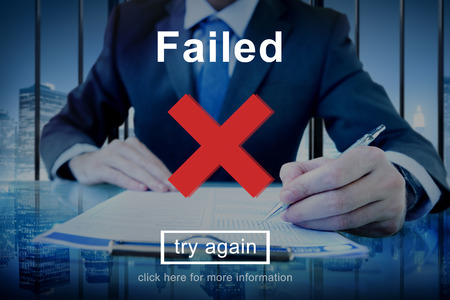 failed strategy: Failed Error Failling Mistake Negative Stress Bad Concept