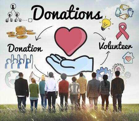donacion de organos: Donaciones Voluntario Caridad Concept Bienestar del corazón Foto de archivo