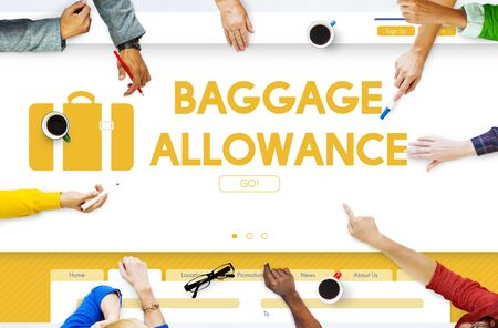 allowance: Baggage Luggage Allowance Passanger Plane Concept