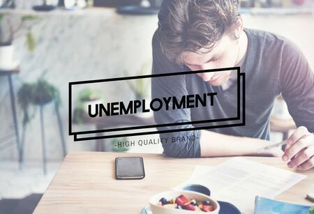 sacked: Unemployment Turnover Lay off Sacked Word Concept
