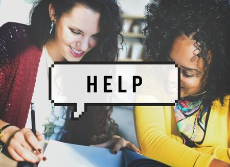 black empowerment: Help Helping Supporting Service Concept
