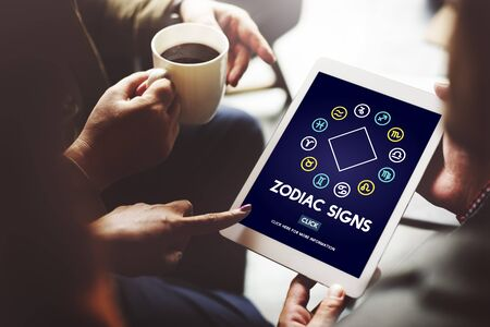 astrological: Zodiac Signs Prediction Horoscope Astrological Concept Stock Photo