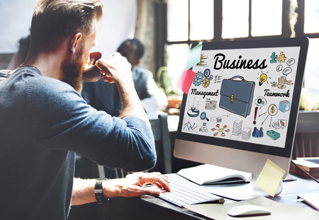 Online business concept on a computer