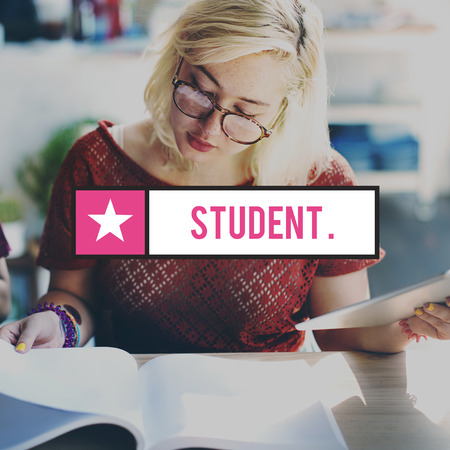 eager: Student Studying Academic Education School Concept Stock Photo
