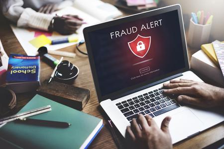 scam: Fraud Scam Phishing Caution Deception Concept Stock Photo