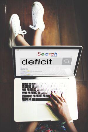 banking crisis: Deficit Crisis Debt Banking Financial Money Concept Stock Photo
