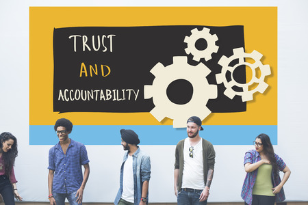 accountability: Trust Accountability Responsibility Illustration Concept Stock Photo