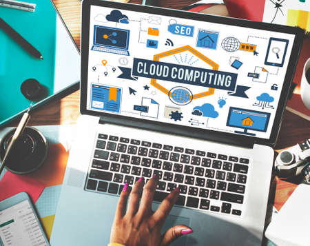 african descent: Cloud Computing Connection Networking Concept Stock Photo