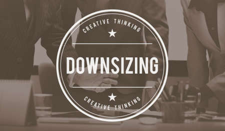 downsizing: Downsizing Layoff Jobless Loss Cutback Cutting Concept