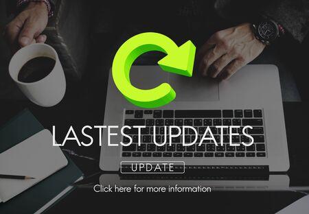 updates: Lastest Updates Internet Connection Refresh Concept Stock Photo