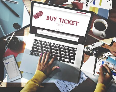 online purchase: Buy Ticket Online Travel Holiday Concept