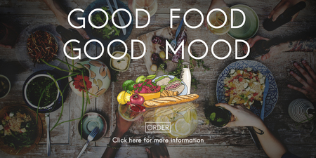 buen vivir: Good Food Mood Healthy Living Nutrition Dining Concept