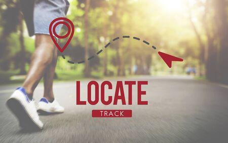 Localizar la ubicación de dirección de conceptos Destino Posición