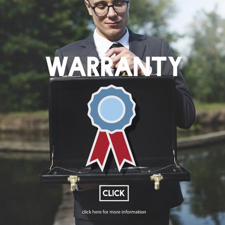 guaranty: Warranty Guarantee Guaranty Quality Certificate Concept Stock Photo