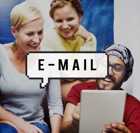 correspondencia: E-mail Technology Correspondence Connecting Concept Foto de archivo