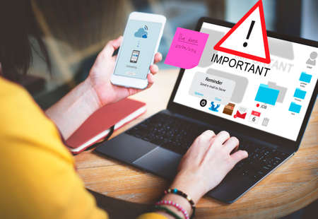 remind: Important Importance Priority Significant Remind Concept Stock Photo