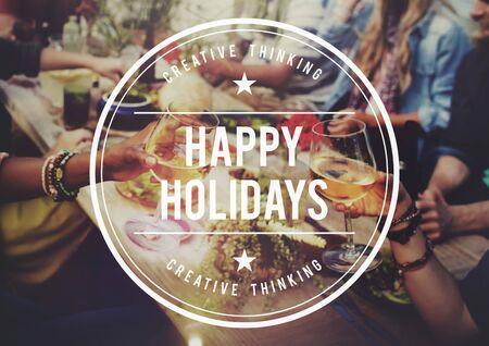 santa cena: Buenas fiestas festivo Vacaciones en concepto de viaje