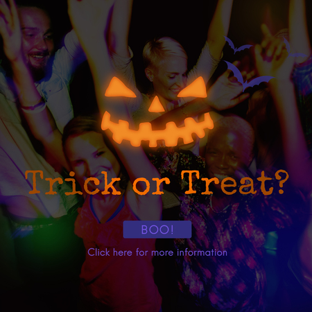 trick or treat: Trick Treat Candies Bucket Festive Halloween Concept