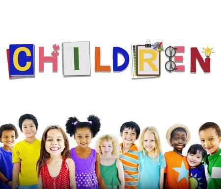 Children Kids Offspring Young Adolescence Concept Reklamní fotografie