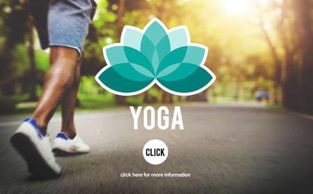 position d amour: Yoga Contemplation Exercice Fitness Concept sain