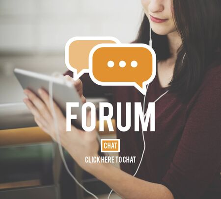 discussion forum: Forum Discussion Global Communications Conference Concept Stock Photo