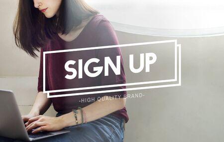 Aanmelden Registratie Lidmaatschap Deelnemen Concept