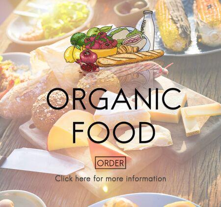 Orgánica comida natural y saludable Concepto fresco Foodie