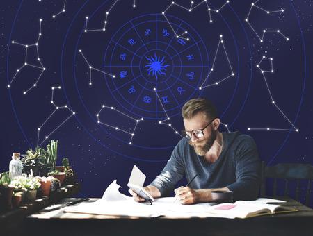 Astrologie horoscoop Stars Zodiac Signs Stockfoto