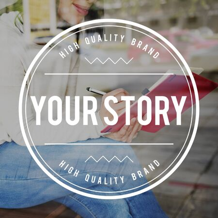 narrative: Your Story Experience Storyteller Information Narrative Concept Stock Photo