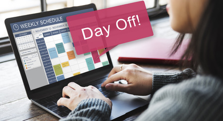 off day: Day Off Vacation Holiday Event Relaxation Concept Stock Photo