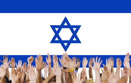 raise the white flag: Israel Country Flag Liberty National Concept