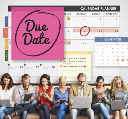 important event: Due Date Appointment Day Event Important Concept