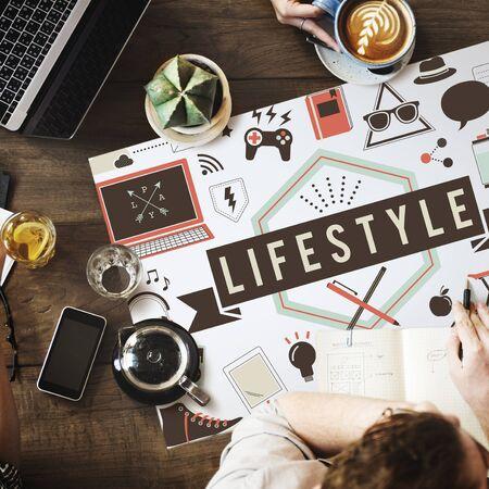 interests: Lifestyle Bahaviour Culture Hobby Interests Ways Concept