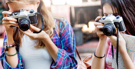 fun activity: Girls Friendship Hangout Traveling Holiday Photography Concept