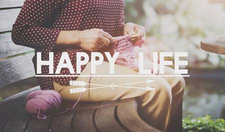 pleasure craft: Happy Life Enjoyment Fun Hobby Knitting Concept