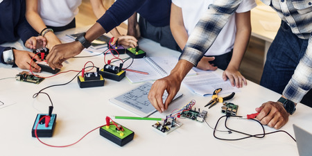 Education School Student Circuit Electricity Transistor Concept