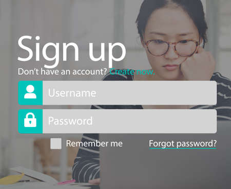 Register Account Setting Sign-Up Enter Subscribe Concept