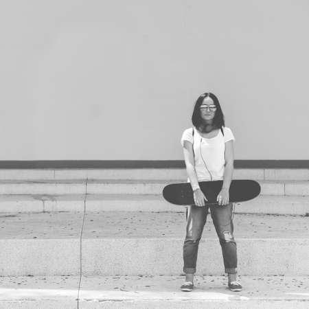 enjoyment: Funky Fresh Hipster Enjoyment Skateboarding Concept
