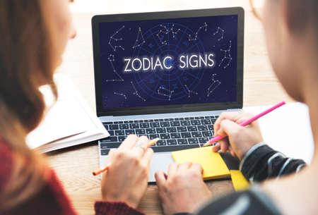 astral: Zodiac Signs Astral Astrological Birth Calendar Concept