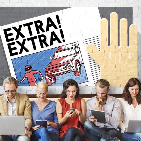 important: Extra Important Announcement Advertisement Concept Stock Photo