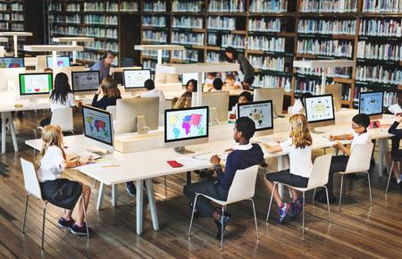 Onderwijs School Student Computer Network Technology Concept