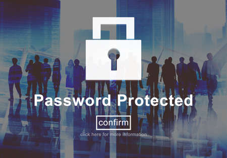 network security: Password Protected Network Security Protection Concept