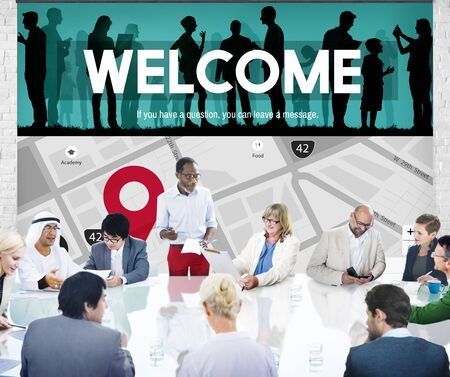 available: Welcome Welcoming Available Friendly Hospitality Concept