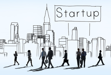 new business: Startup New Business Vision Strategy Launch Concept