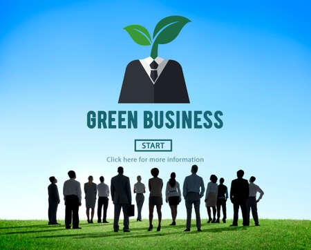 people looking up: Green Business Ecology Environment Concept