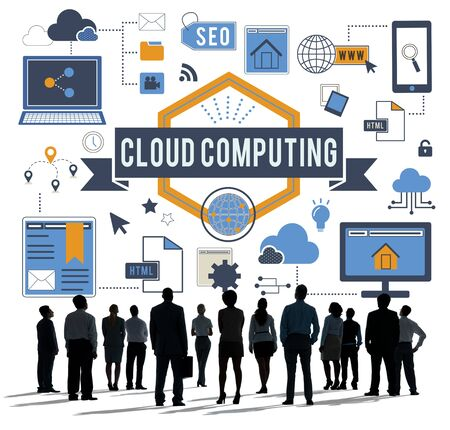 networking concept: Cloud Computing Connection Networking Concept Stock Photo