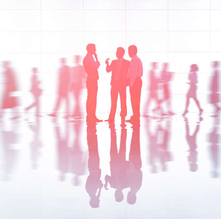organised group: Back lit Business People Working Corporate Concept Stock Photo